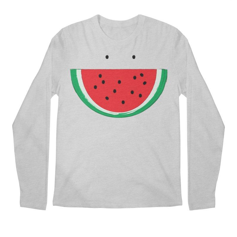 Happy Watermelon Men's Longsleeve T-Shirt by Avo G'day!