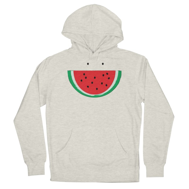 Happy Watermelon Men's French Terry Pullover Hoody by Avo G'day!