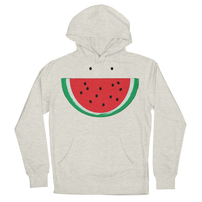 Happy Watermelon Women's French Terry Pullover Hoody by Avo G'day!