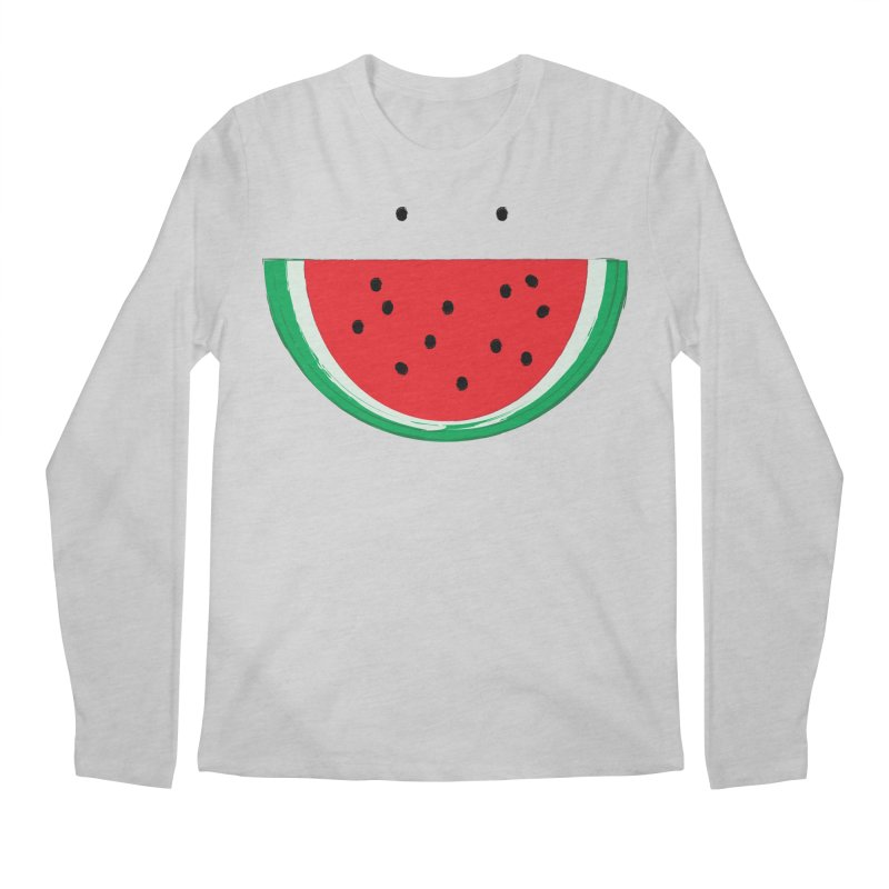 Happy Watermelon Men's Regular Longsleeve T-Shirt by Avo G'day!