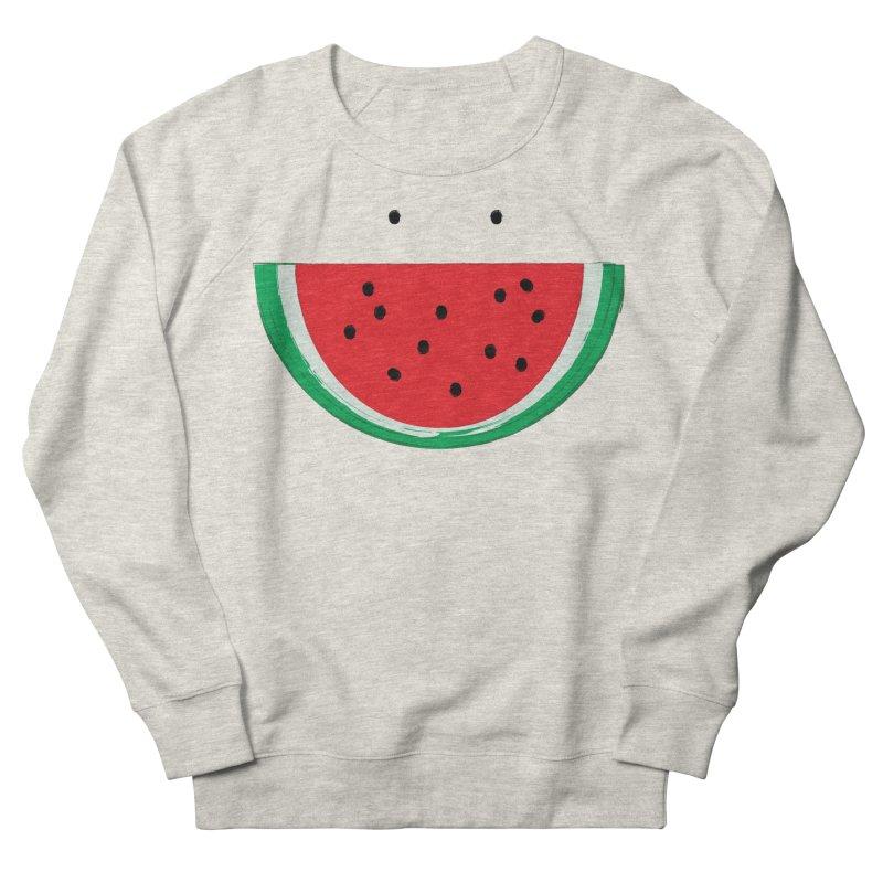 Happy Watermelon Women's French Terry Sweatshirt by Avo G'day!