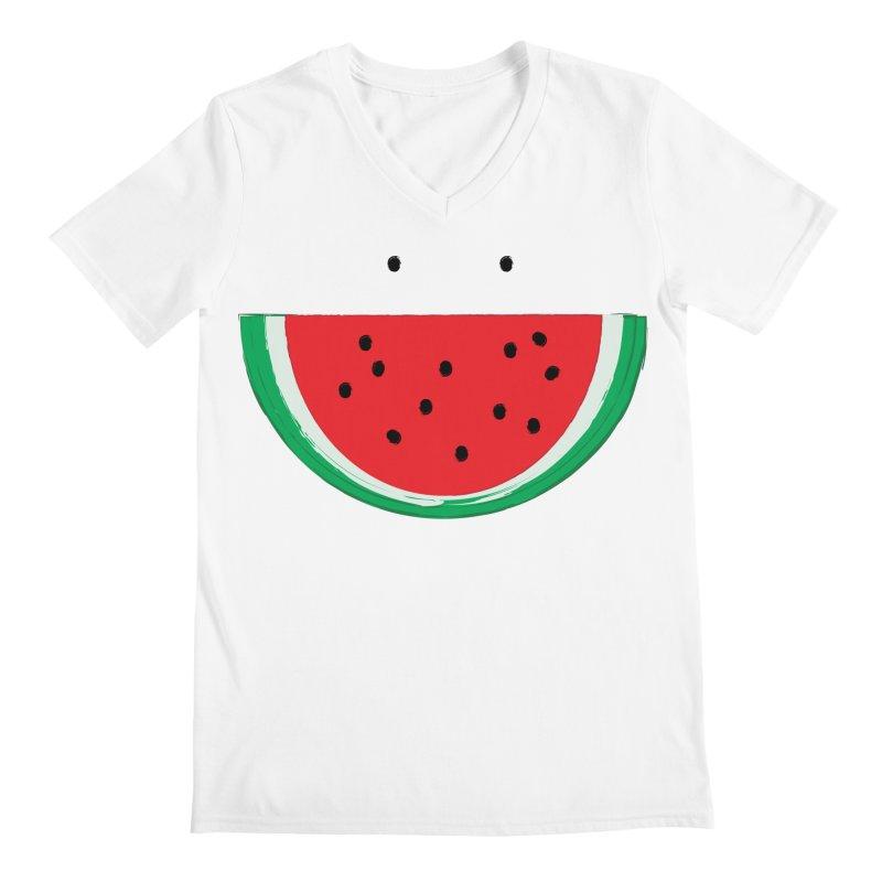 Happy Watermelon Men's Regular V-Neck by Avo G'day!