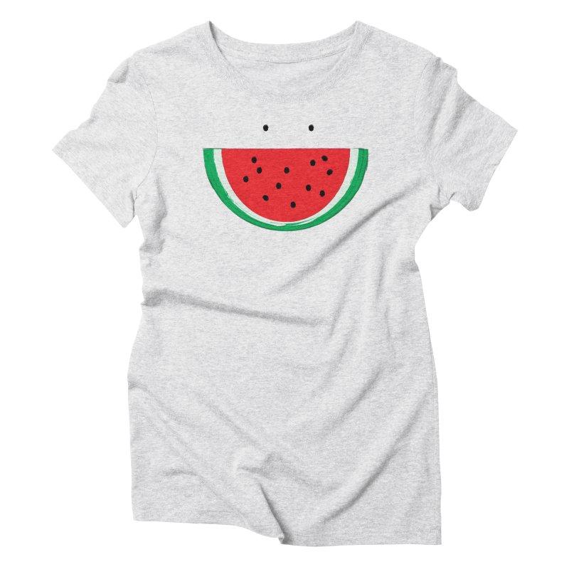 Happy Watermelon Women's T-Shirt by Avo G'day!