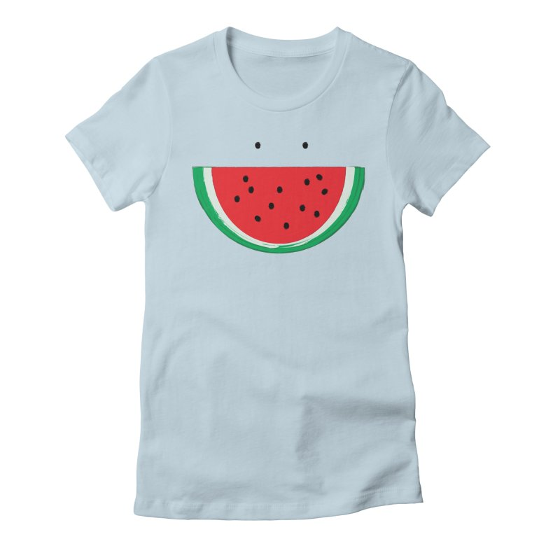 Happy Watermelon Women's T-Shirt by Avo G'day!