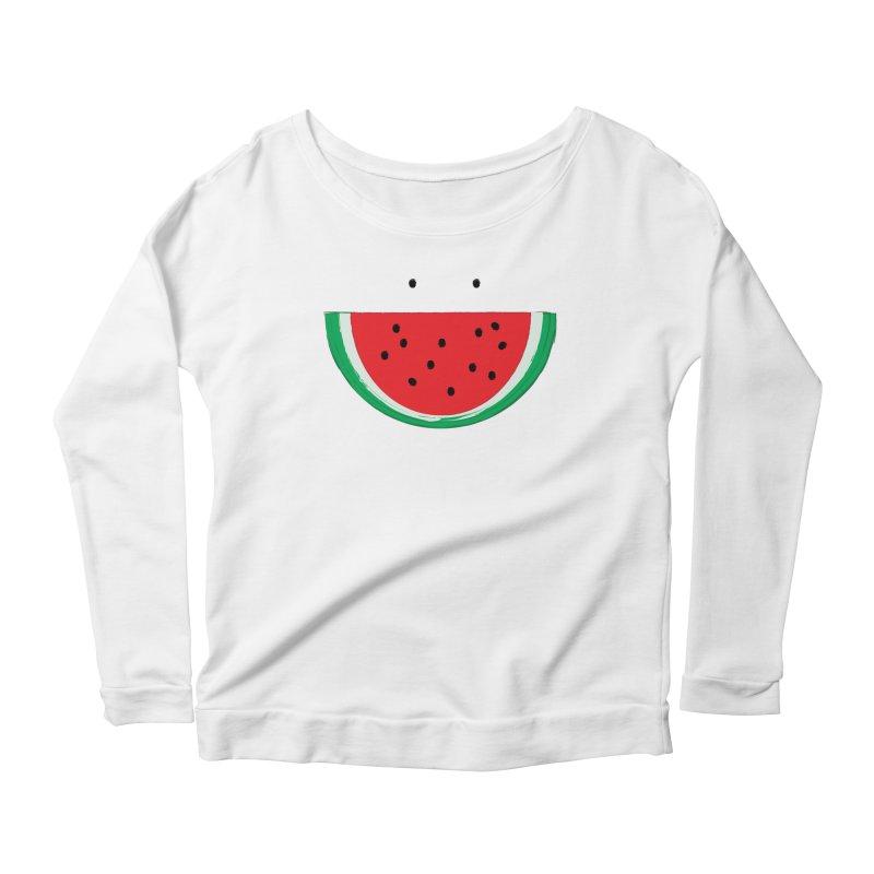 Happy Watermelon Women's Scoop Neck Longsleeve T-Shirt by Avo G'day!