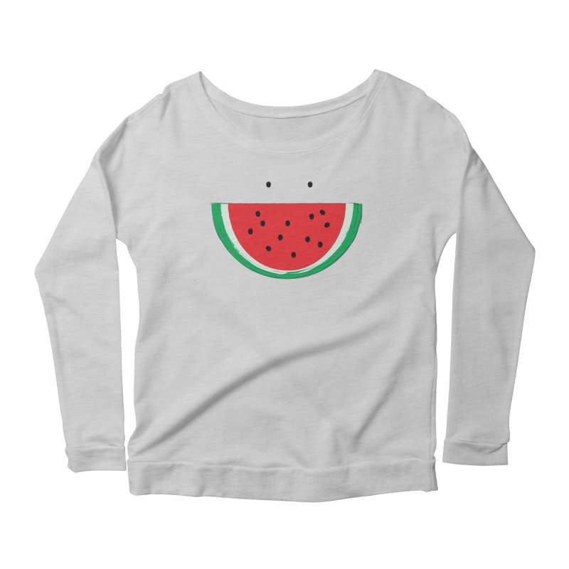 Happy Watermelon Women's Scoop Neck Longsleeve T-Shirt by Avo G'day!
