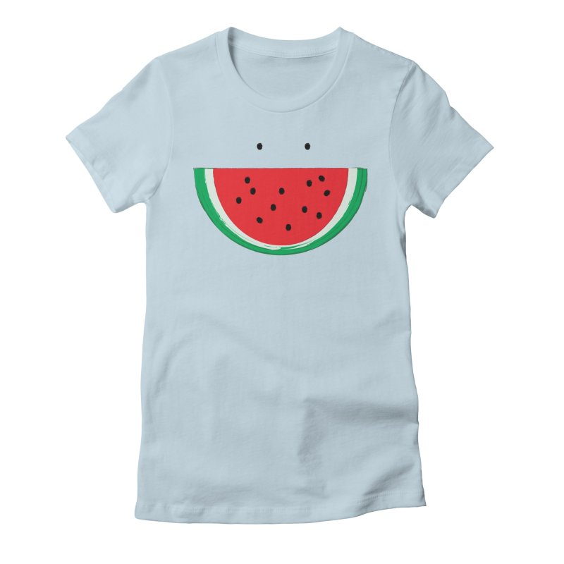 Happy Watermelon Women's Fitted T-Shirt by Avo G'day!