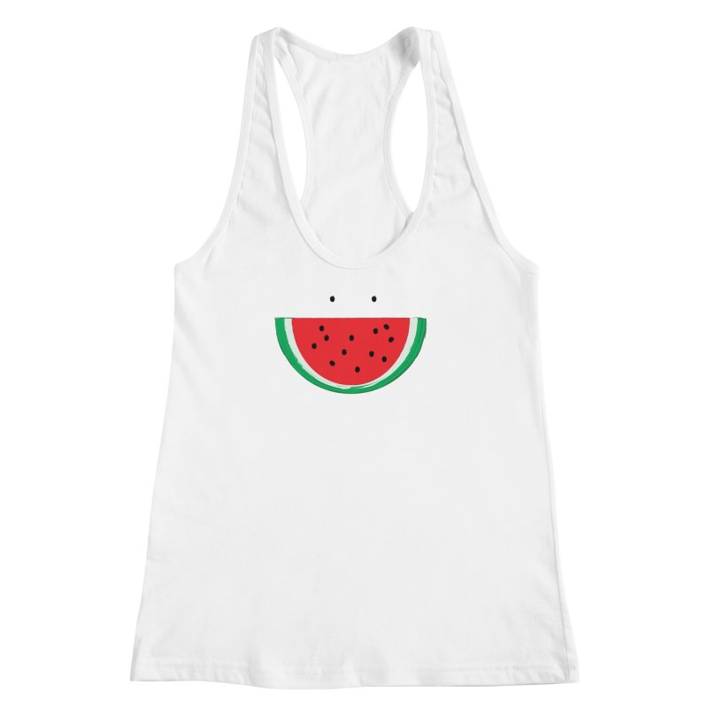 Happy Watermelon Women's Racerback Tank by Avo G'day!