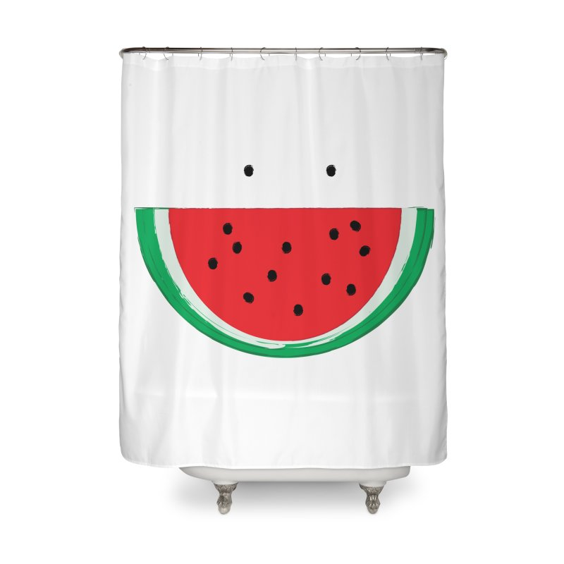 Happy Watermelon Home Shower Curtain by Avo G'day!