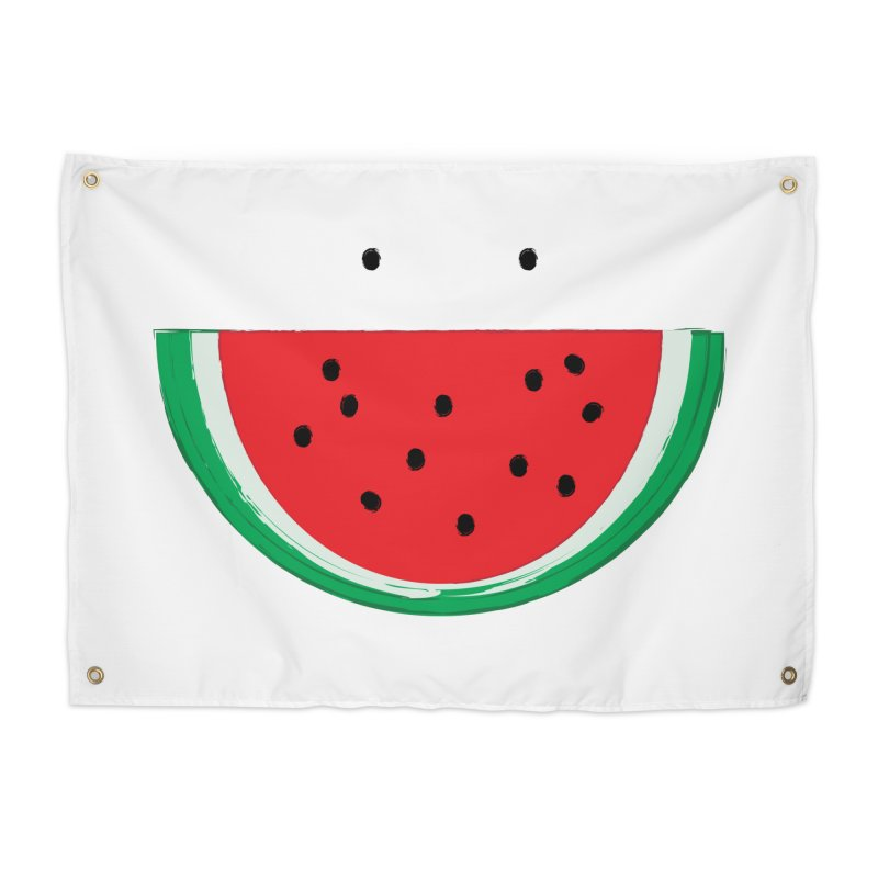 Happy Watermelon Home Tapestry by Avo G'day!