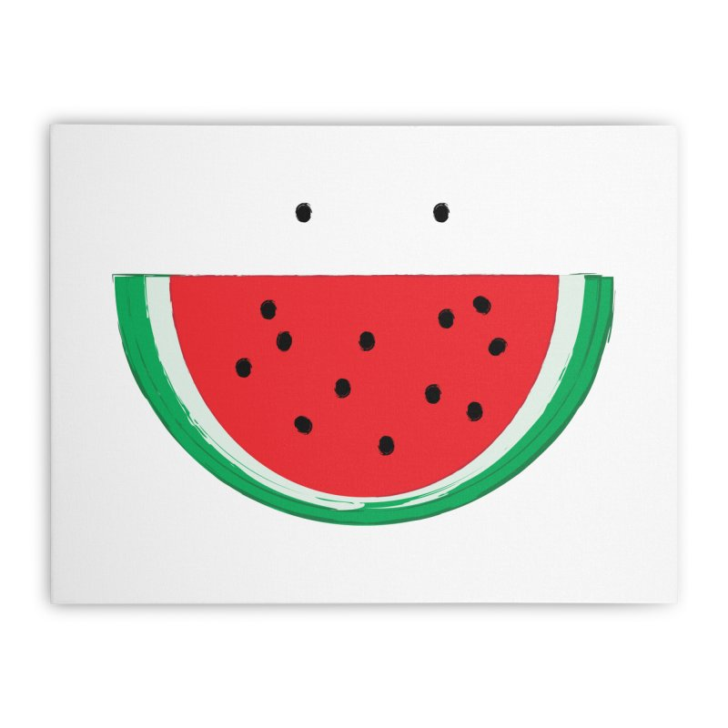 Happy Watermelon Home Stretched Canvas by Avo G'day!