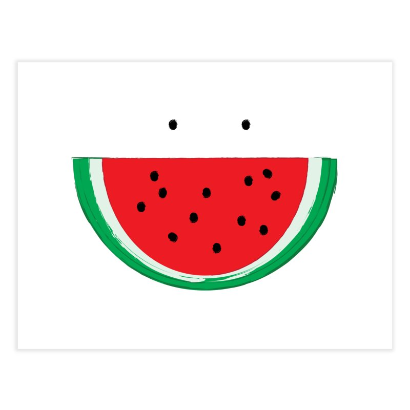 Happy Watermelon Home Fine Art Print by Avo G'day!