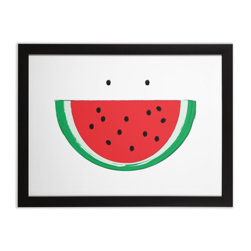 Happy Watermelon Home Framed Fine Art Print by Avo G'day!