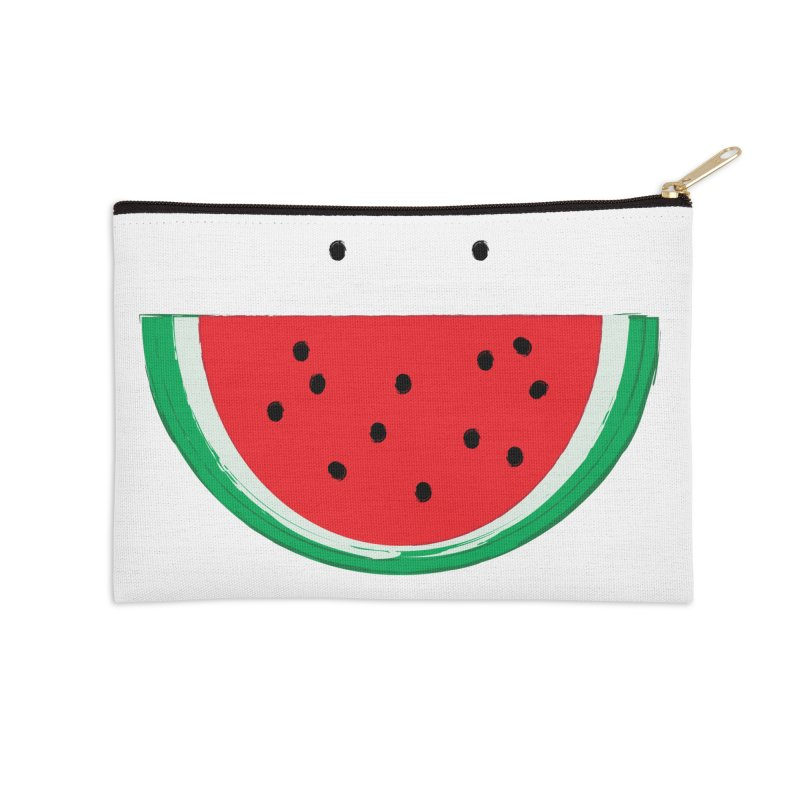 Happy Watermelon Accessories Zip Pouch by Avo G'day!