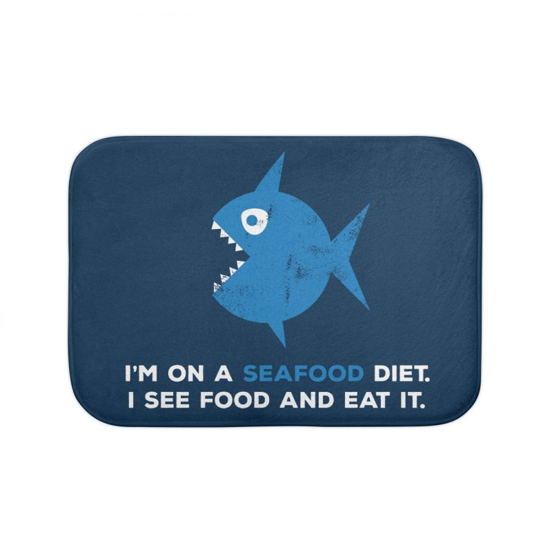 Seafood Diet Home Bath Mat by Avo G'day!
