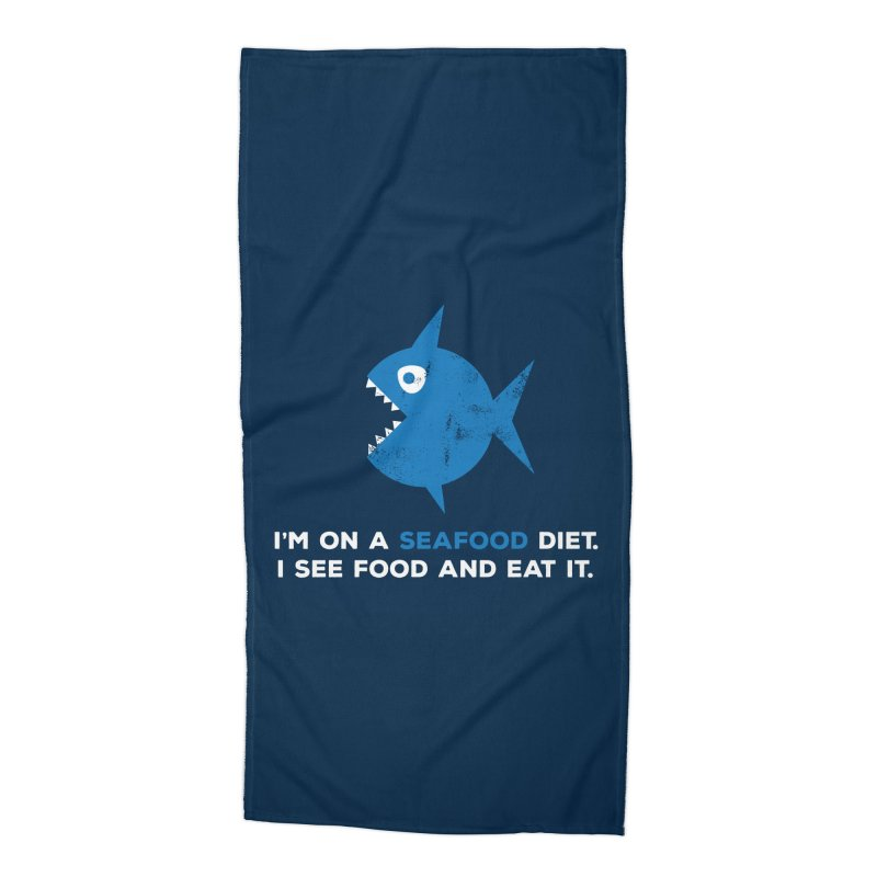 Seafood Diet Accessories Beach Towel by Avo G'day!