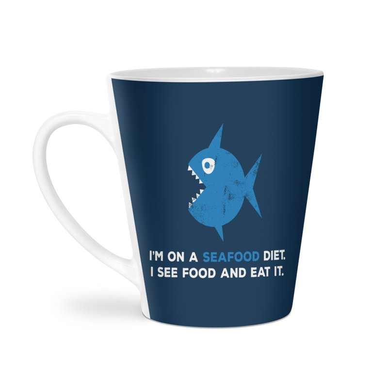 Seafood Diet Accessories Latte Mug by Avo G'day!