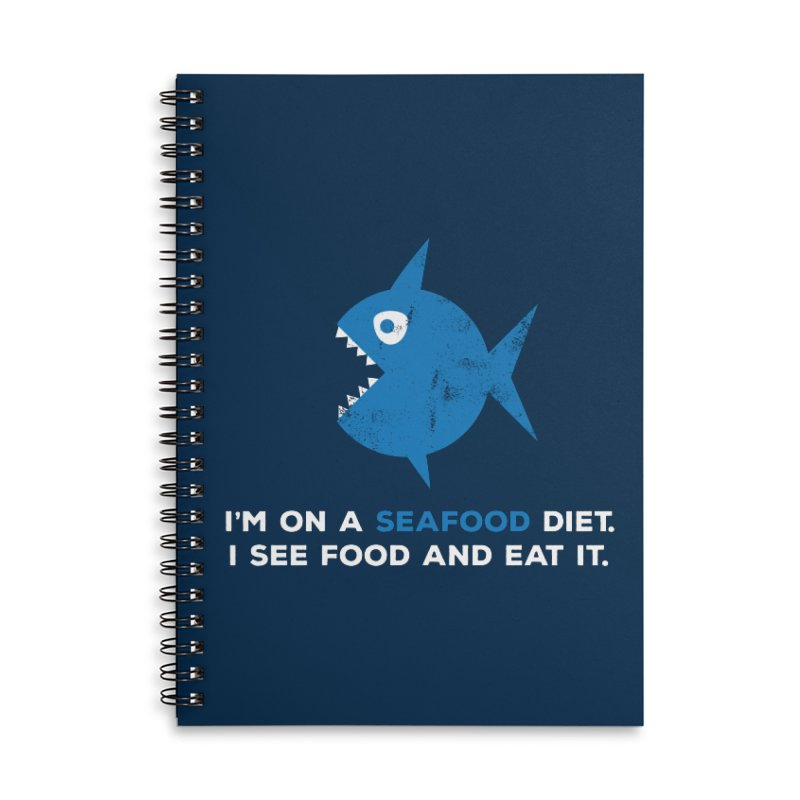 Seafood Diet Accessories Lined Spiral Notebook by Avo G'day!