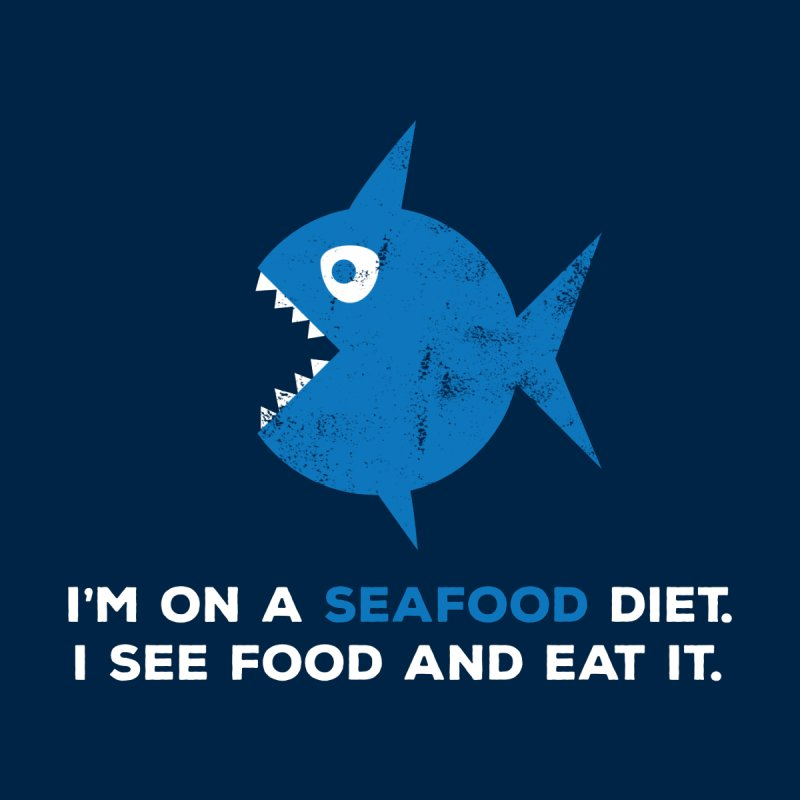 Seafood Diet Kids T-Shirt by Avo G'day!