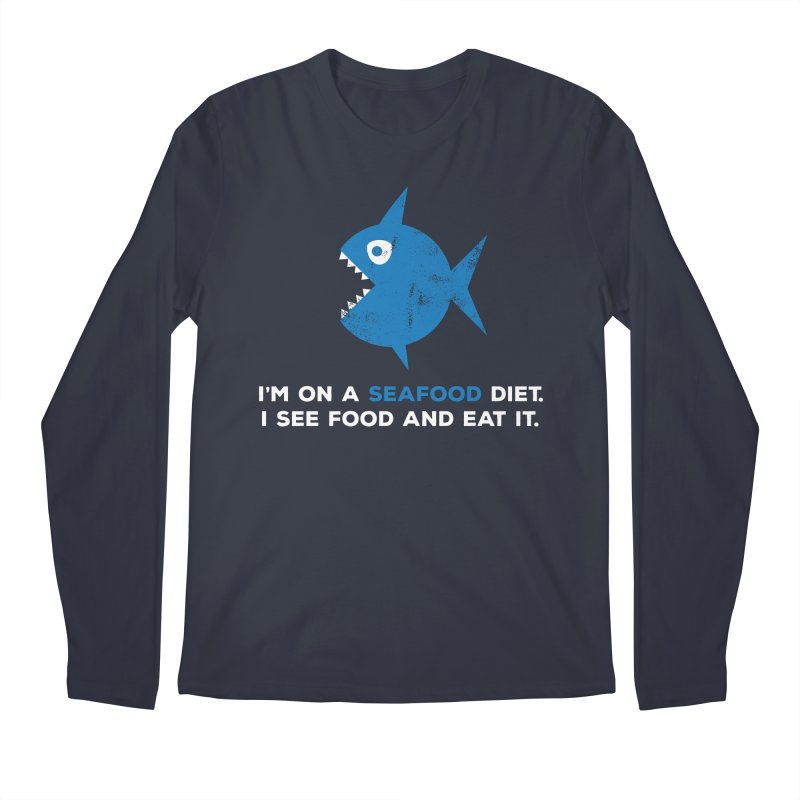 Seafood Diet Men's Regular Longsleeve T-Shirt by Avo G'day!