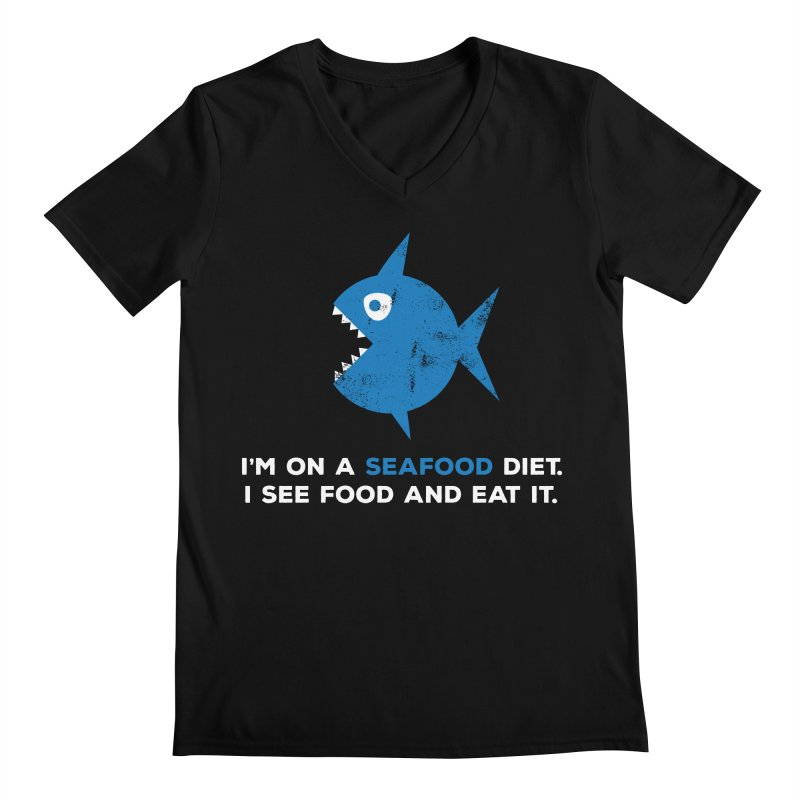 Seafood Diet Men's Regular V-Neck by Avo G'day!