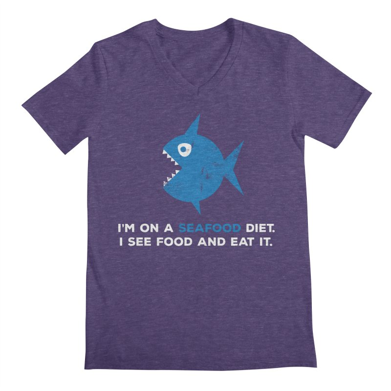 Seafood Diet Men's V-Neck by Avo G'day!