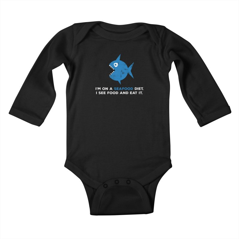 Seafood Diet Kids Baby Longsleeve Bodysuit by Avo G'day!