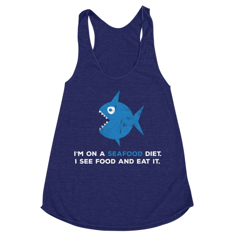 Seafood Diet Women's Racerback Triblend Tank by Avo G'day!