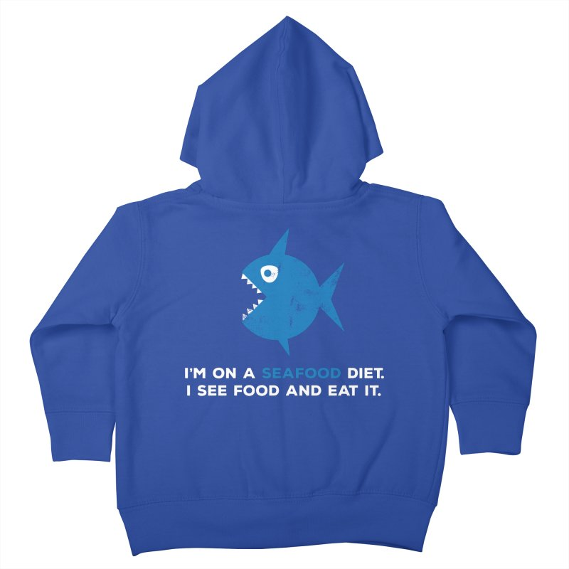 Seafood Diet Kids Toddler Zip-Up Hoody by Avo G'day!