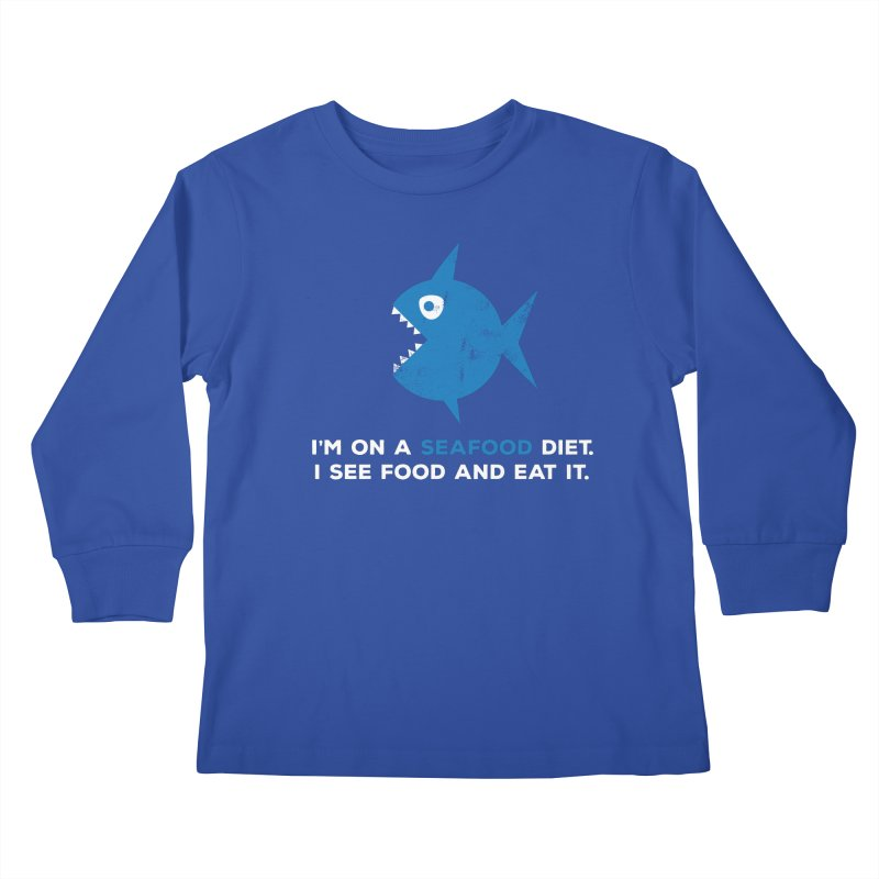 Seafood Diet Kids Longsleeve T-Shirt by Avo G'day!