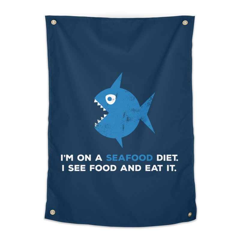 Seafood Diet Home Tapestry by Avo G'day!