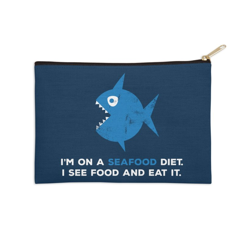 Seafood Diet Accessories Zip Pouch by Avo G'day!