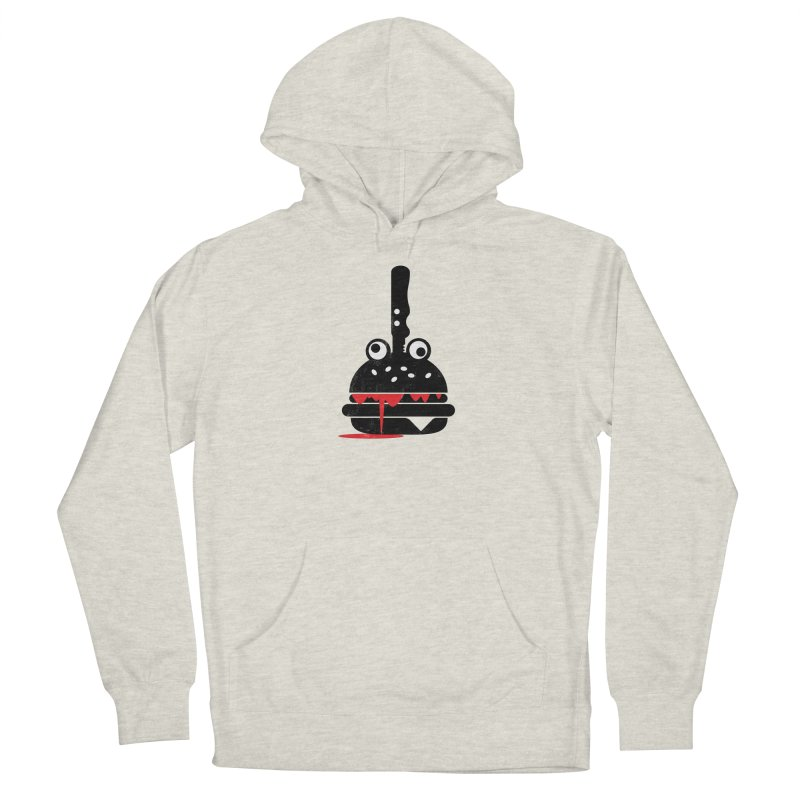 Burger Murder Men's French Terry Pullover Hoody by Avo G'day!