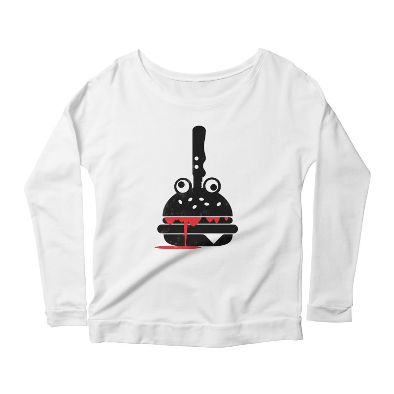 Burger Murder Women's Scoop Neck Longsleeve T-Shirt by Avo G'day!