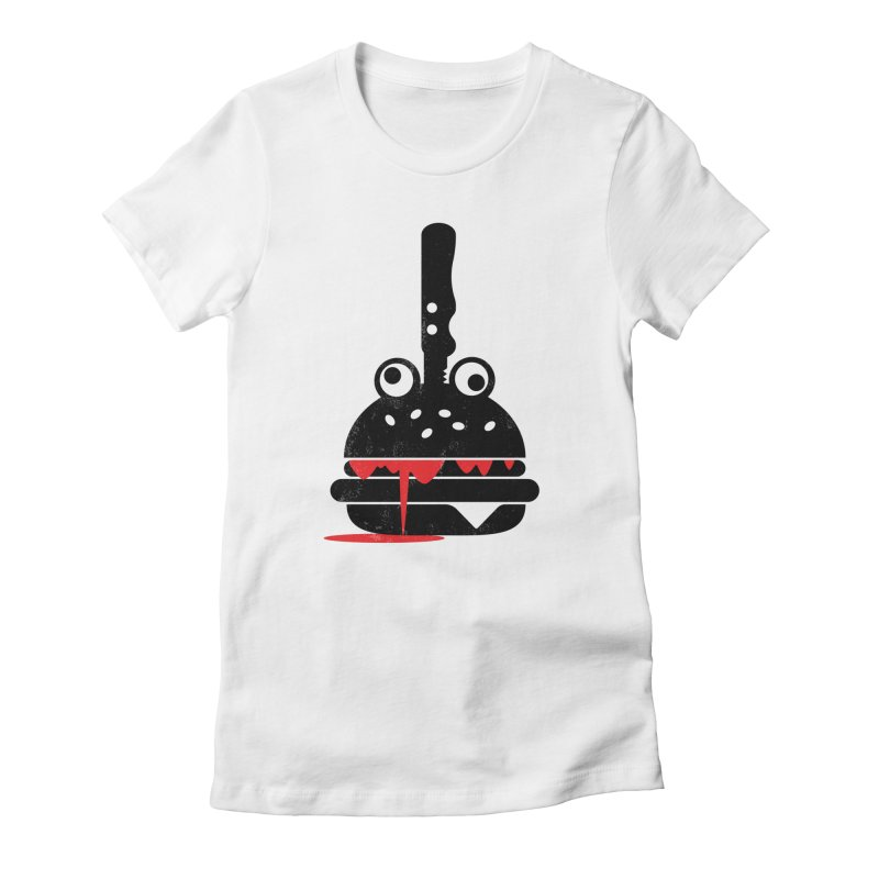 Burger Murder Women's Fitted T-Shirt by Avo G'day!