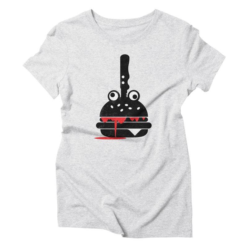 Burger Murder Women's Triblend T-Shirt by Avo G'day!