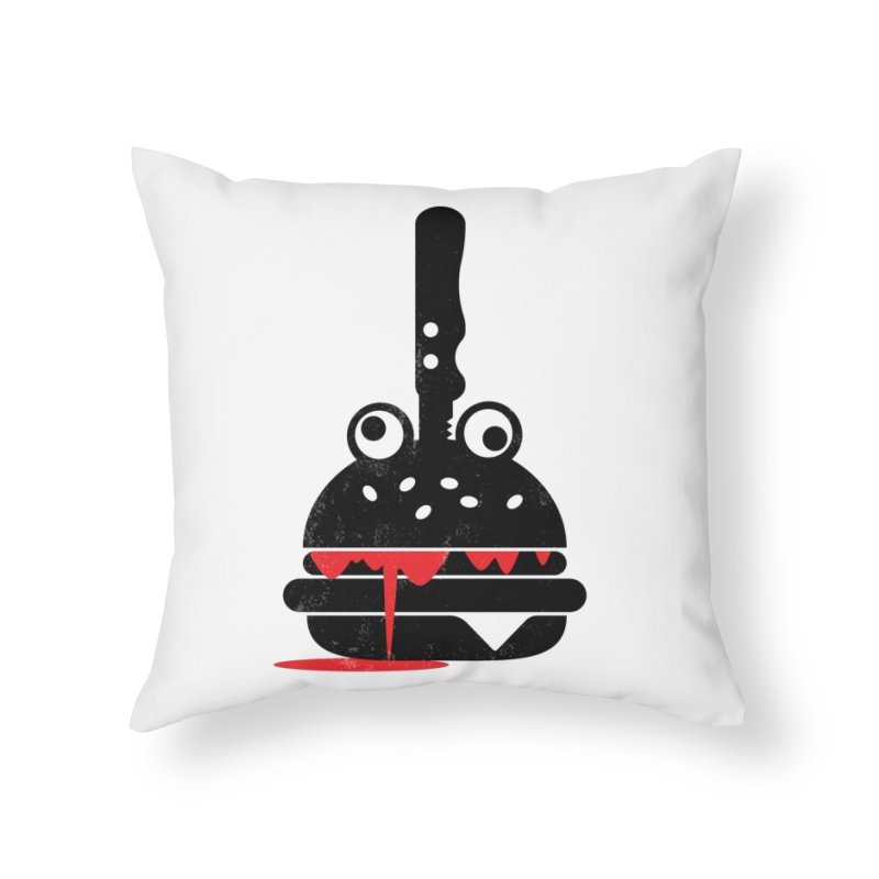Burger Murder Home Throw Pillow by Avo G'day!