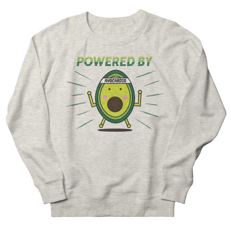Powered by Avocado in Men's French Terry Sweatshirt Heather Oatmeal by Avo G'day!