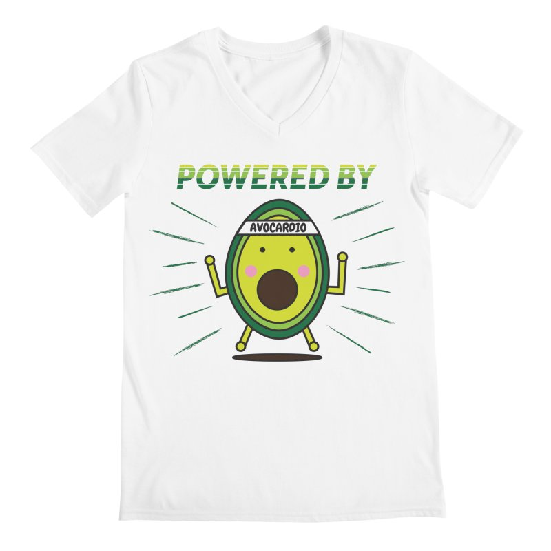 Powered by Avocado Men's V-Neck by Avo G'day!