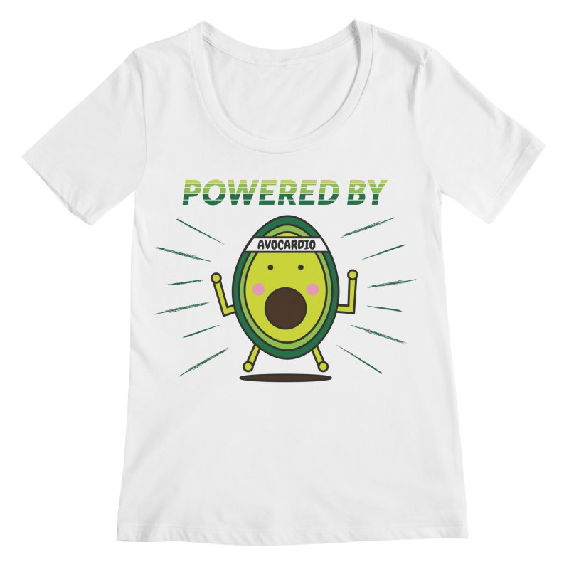 Powered by Avocado Women's Regular Scoop Neck by Avo G'day!
