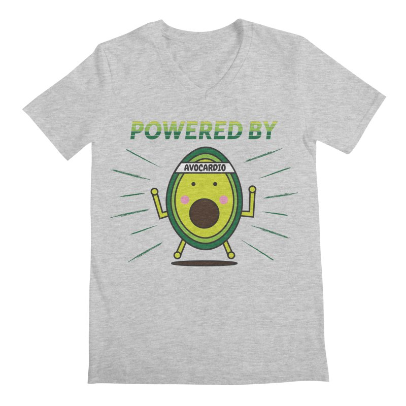 Powered by Avocado Men's Regular V-Neck by Avo G'day!