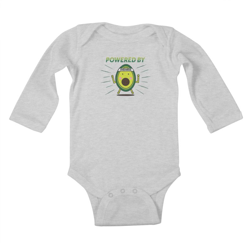 Powered by Avocado Kids Baby Longsleeve Bodysuit by Avo G'day!