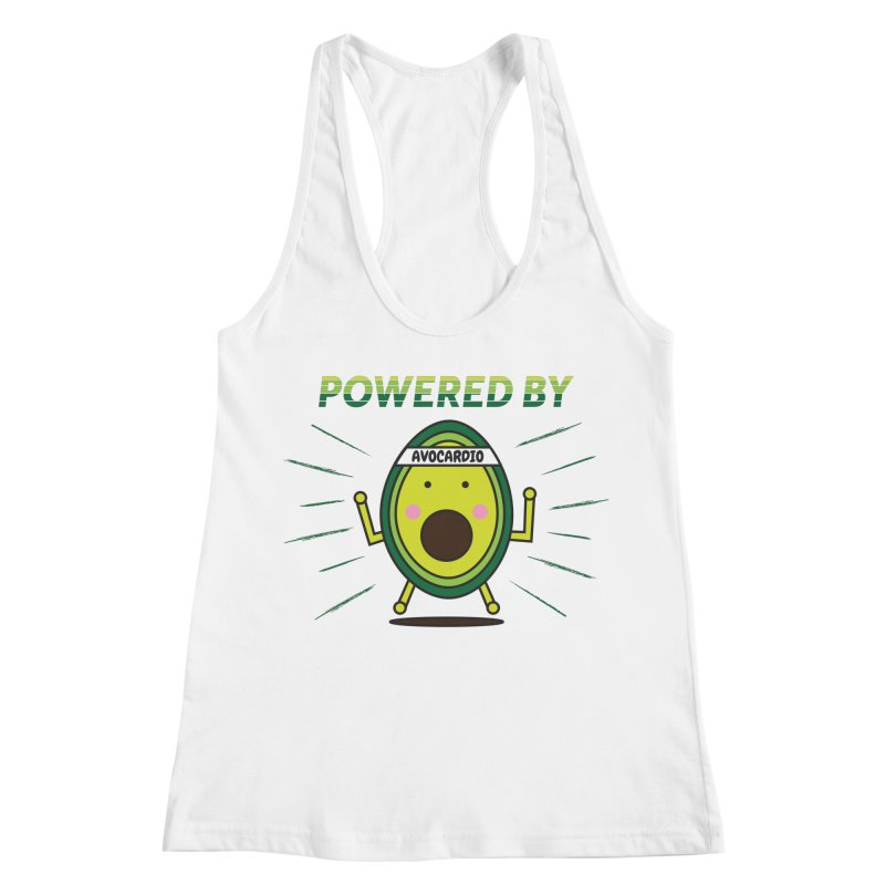 Powered by Avocado Women's Racerback Tank by Avo G'day!