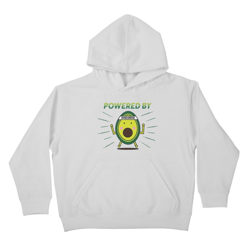 Powered by Avocado Kids Pullover Hoody by Avo G'day!
