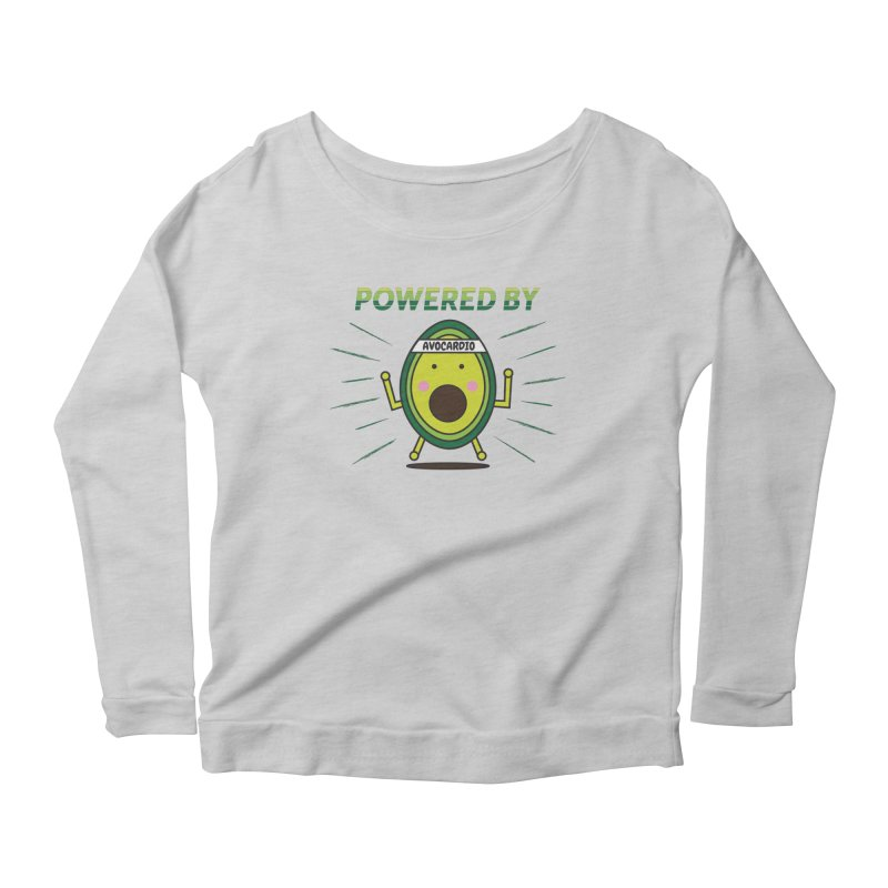 Powered by Avocado Women's Scoop Neck Longsleeve T-Shirt by Avo G'day!
