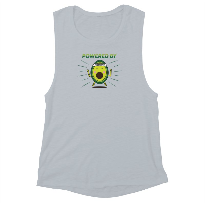 Powered by Avocado Women's Muscle Tank by Avo G'day!