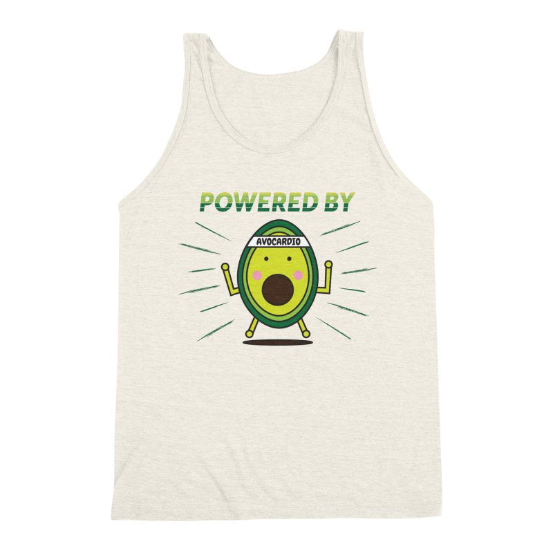 Powered by Avocado Men's Triblend Tank by Avo G'day!