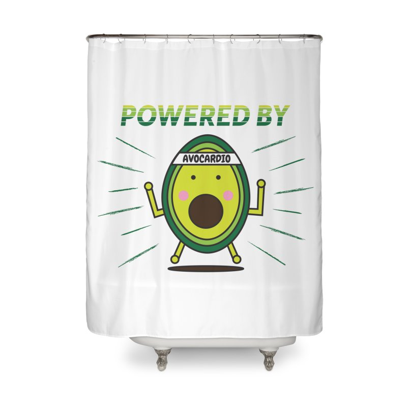Powered by Avocado Home Shower Curtain by Avo G'day!