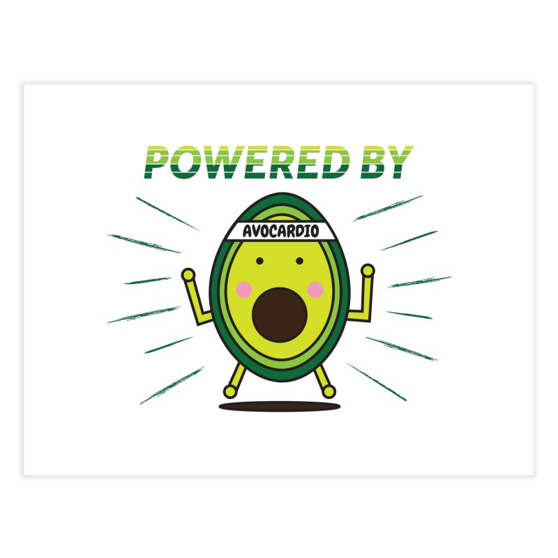 Powered by Avocado Home Fine Art Print by Avo G'day!