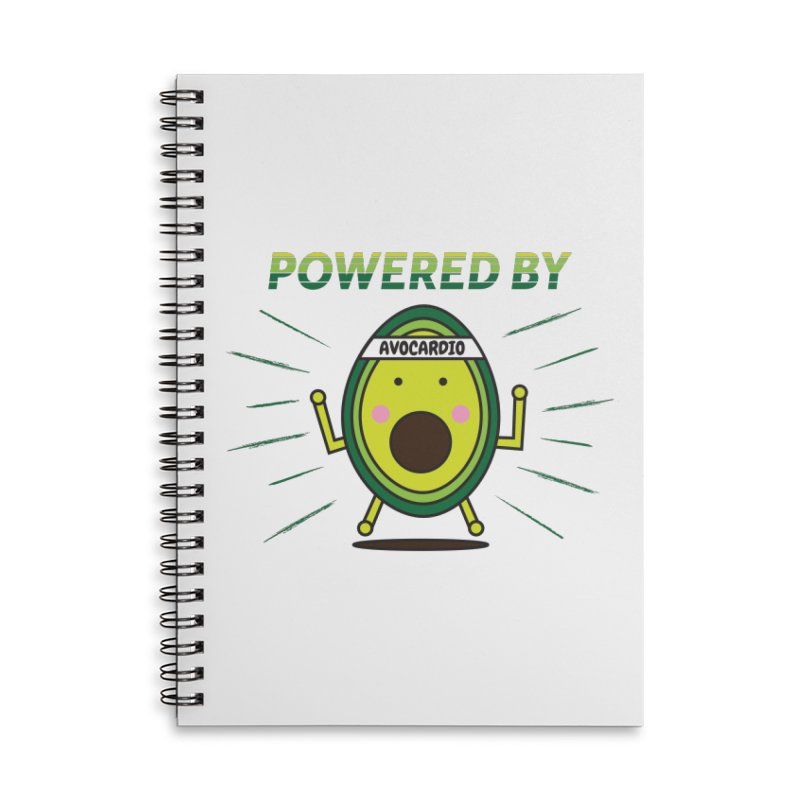 Powered by Avocado Accessories Lined Spiral Notebook by Avo G'day!